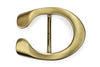 Satin Gold Reverse C Horseshoe Buckle 40mm