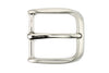 Satin Silver Fluted Edge Prong Style Buckle 40mm