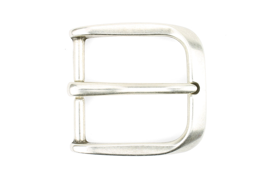 Antique Silver Fluted Edge Prong Style Buckle 40mm