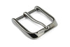 Shiny Gunmetal Fluted Edge Prong Style Buckle 40mm