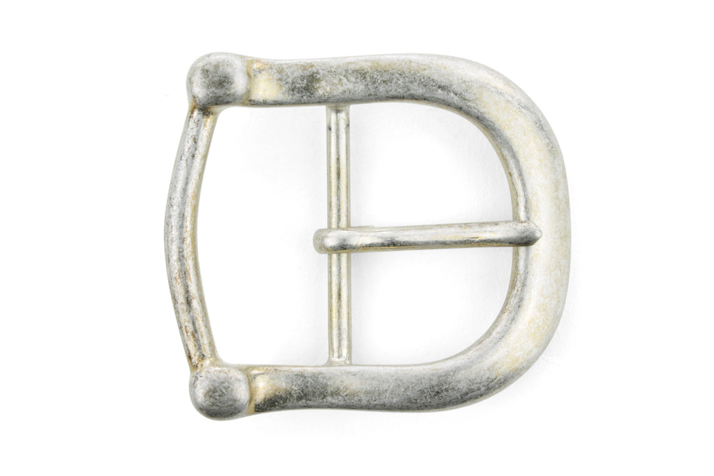 Bleached Gold Centre Prong Bridle Buckle 40mm
