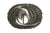 Swirling Aged Silver Oval Eagle Buckle 40mm