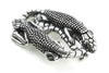 Aged Silver Double Lizard Buckle 40mm