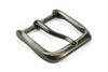 Sleek Satin Gunmetal Fluted Prong Buckle 40mm