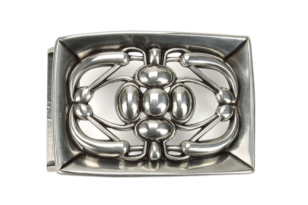 Aged Silver 'Stained Glass' Effect Frame Buckle 40mm