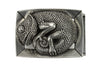 Rectangular Aged Silver Gecko Buckle 40mm