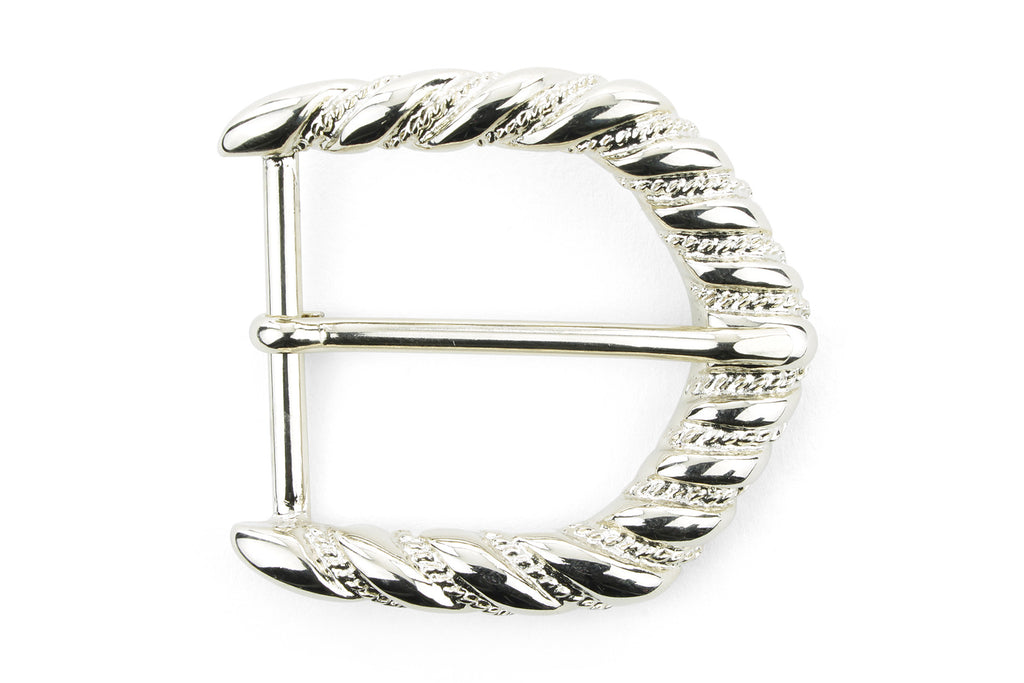 Pale Gold Ribbon Edge Arrow Prong Buckle 40mm