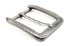 Sliced Edge Detail Special Silver Rectangular Prong Buckle 40mm