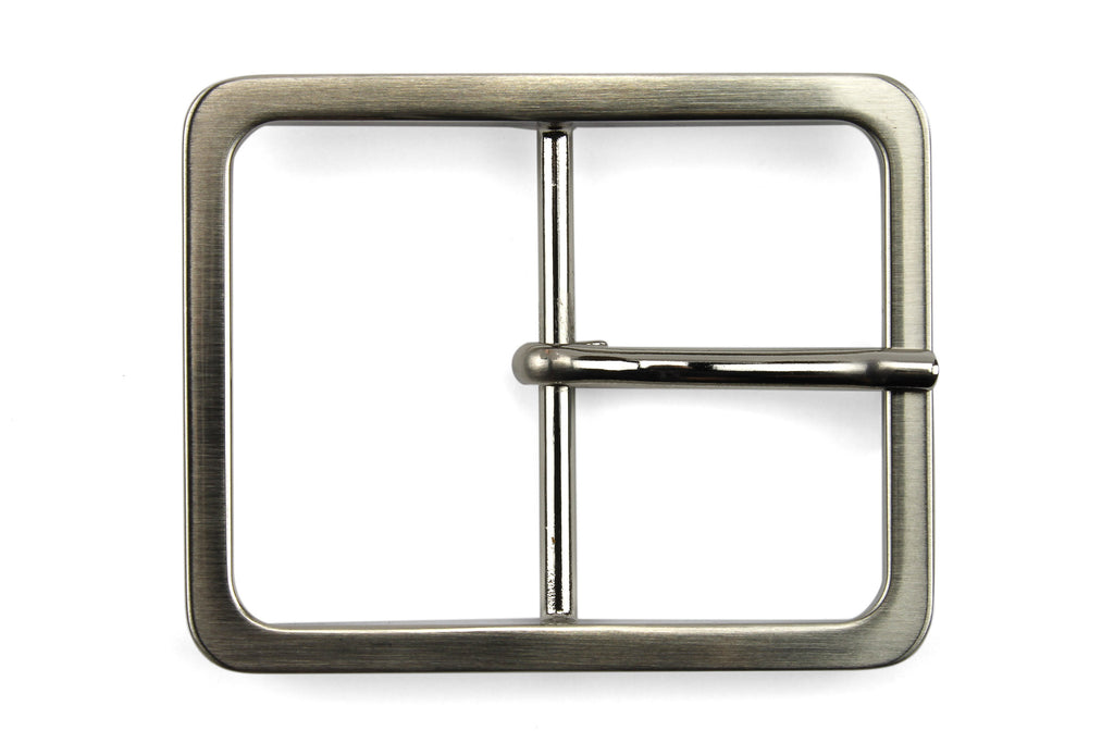 Sleek Satin Silver Window Style Buckle 40mm