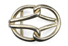 Bleached Gold Tubular Reef Knot Buckle 40mm
