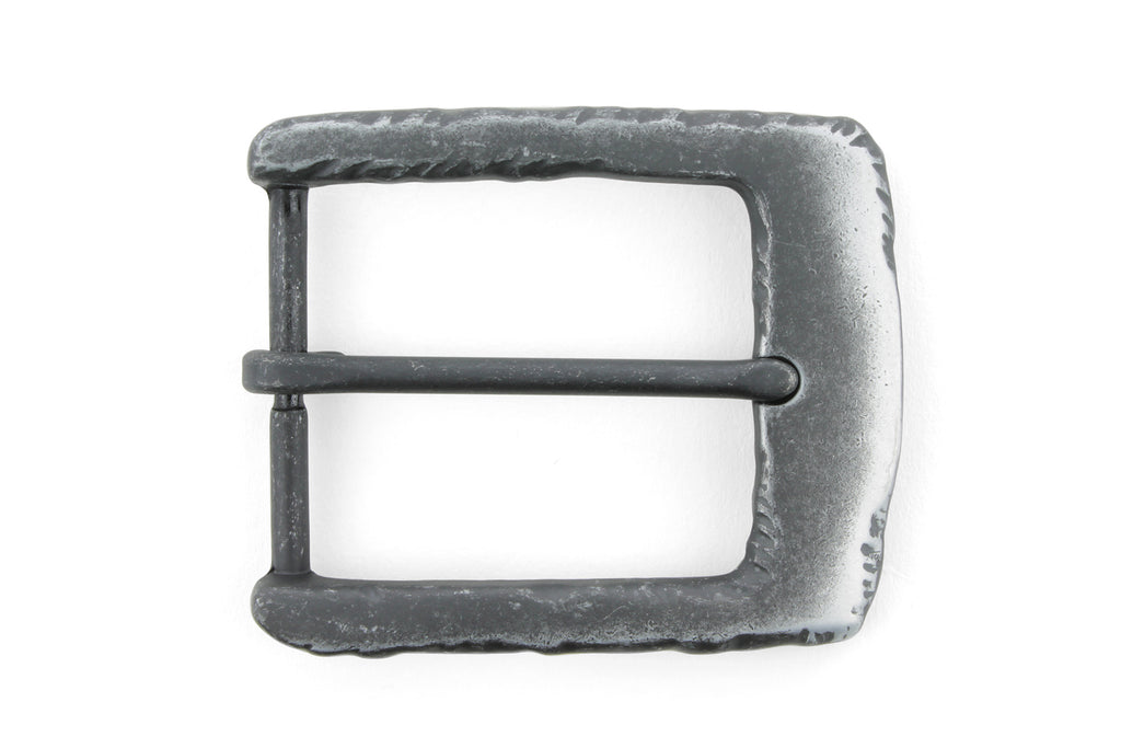 Blackened Gnarled Edge Prong Buckle 40mm