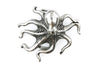 Aged Silver Cute Octopus Buckle 40mm