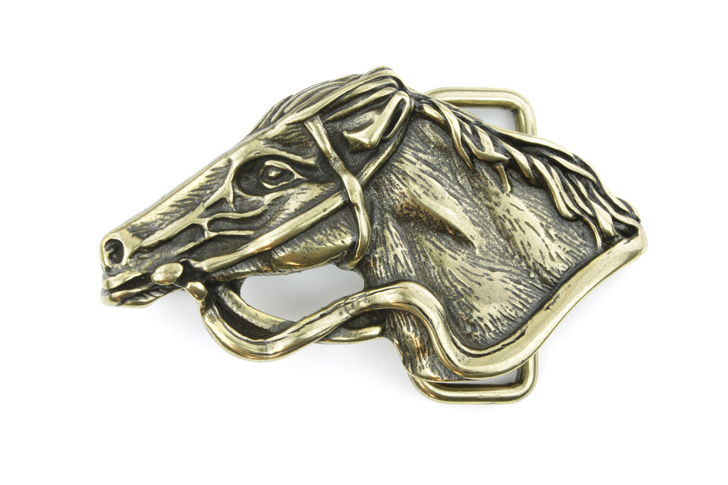 Antique Gold Horse Buckle 40mm