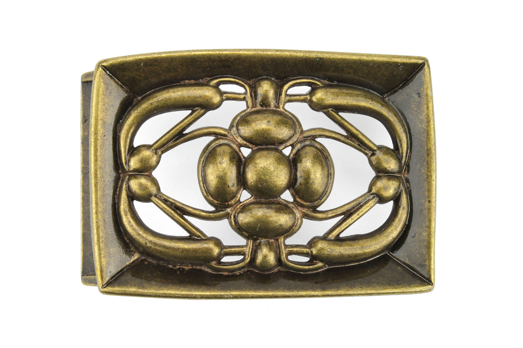 Antique Brass 'Stained Glass' Effect Frame Buckle 40mm