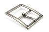Classic Aged Silver Centre Prong Rectangle Buckle 40mm