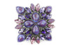 Mixed Purple Toned Swarovski Crystal Buckle 40mm