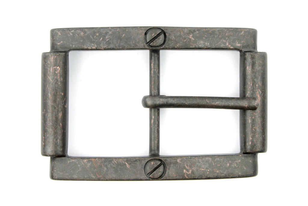 Rust Centre Prong Screw Detail Buckle 40mm