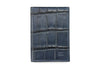 Navy mock croc Chelsea card holder