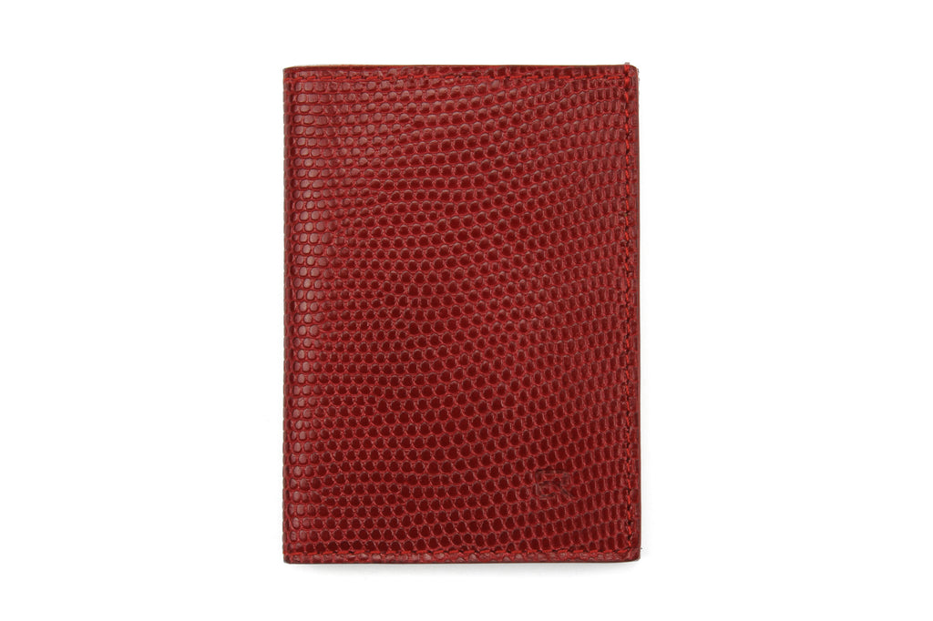 Red mock iguana Chelsea card holder