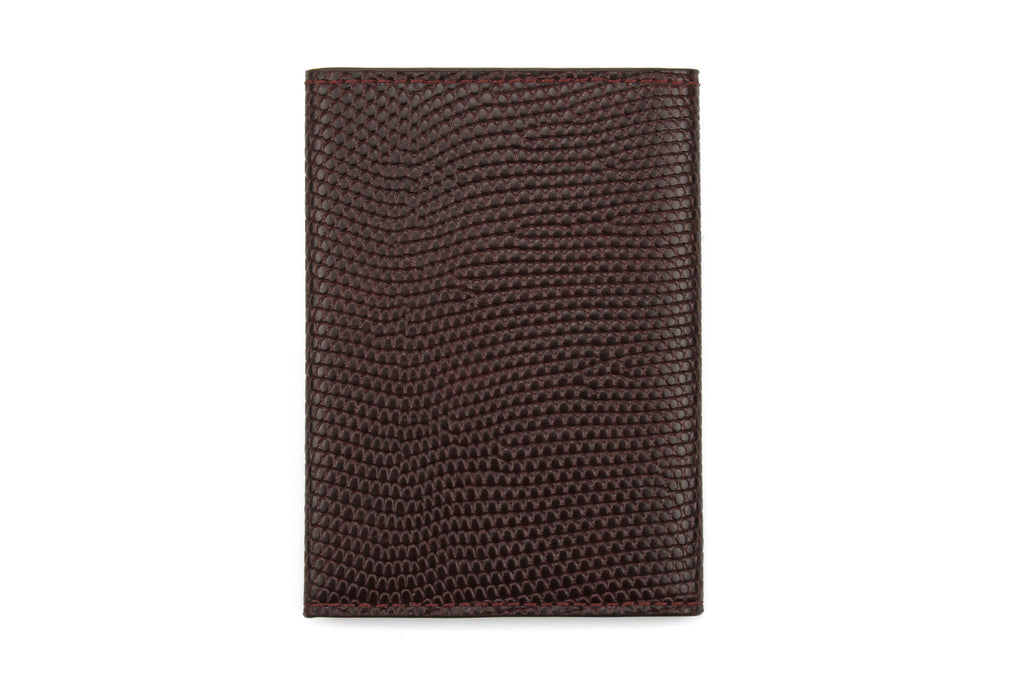Burgundy mock iguana Chelsea card holder