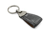 Charcoal Genuine Iguana Triangle keychain
