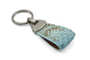 Powder Blue Genuine Python Triangle keychain