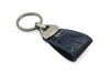 Navy mock crocodile Triangle keychain