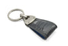 Steel Grey mock crocodile tail Triangle keychain