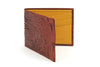 Tonal Cinnamon Orange mock croc wallet