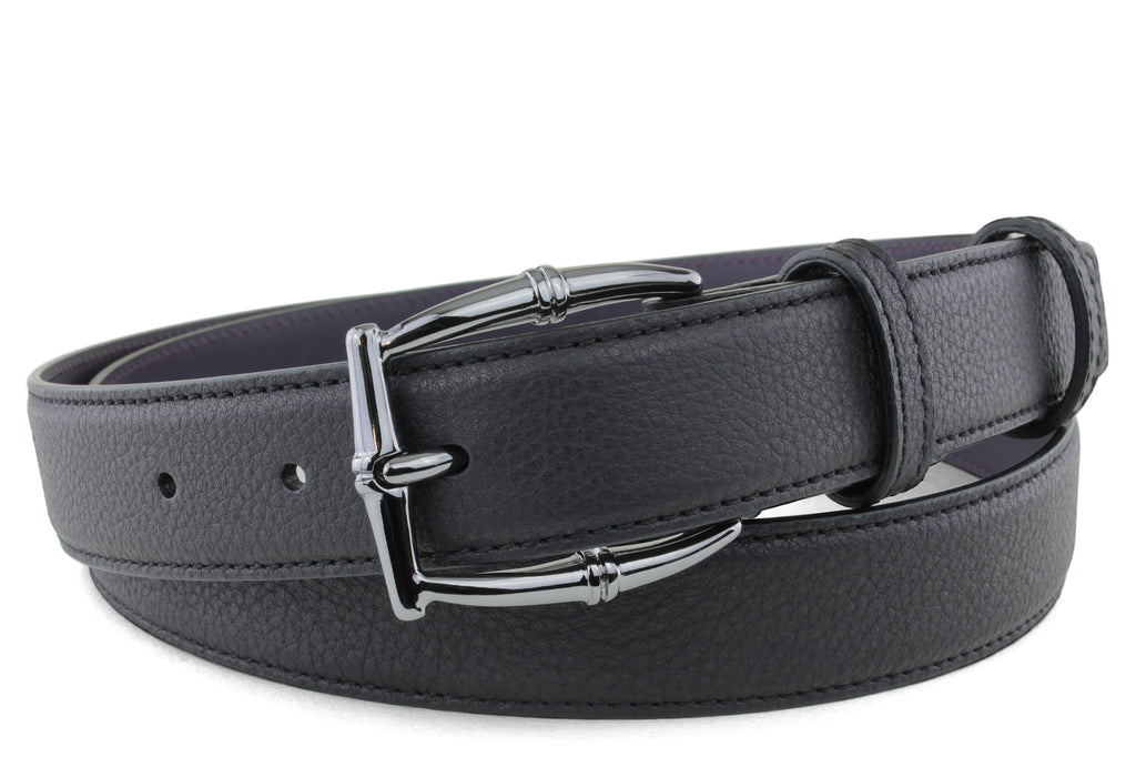 Narrow Black Novak Bamboo Belt