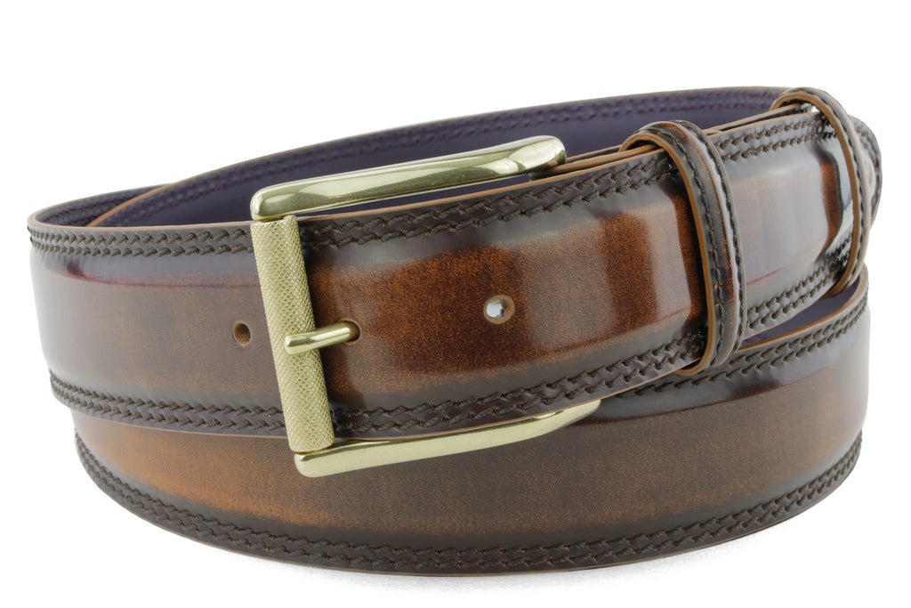Bogart Welt Cognac Men's Hand Burnished Roller Belt