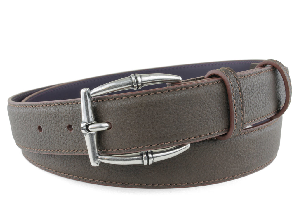 Narrow Bitter Choc Novak Bamboo Belt