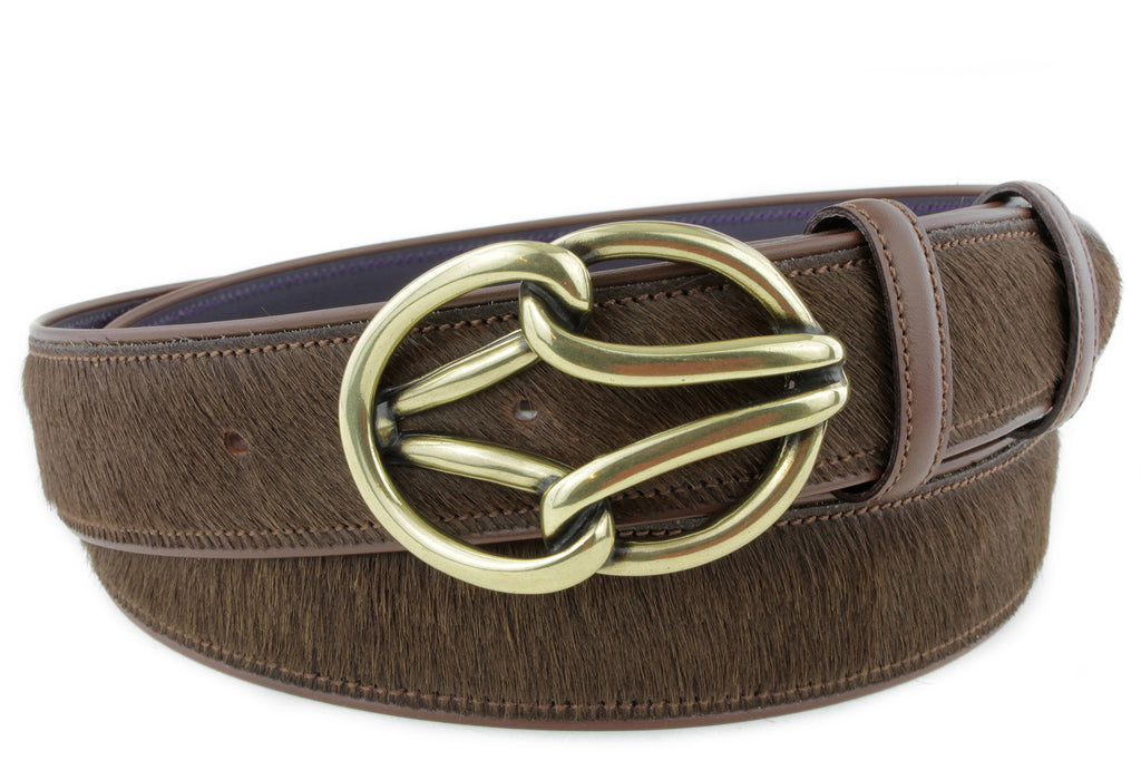 Horse Chestnut Pony Hair New Reef Belt