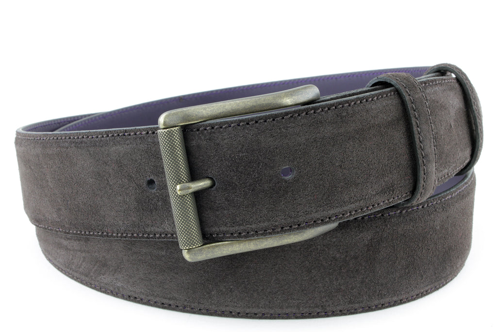 Deep Choc Suede Men's Roller Belt