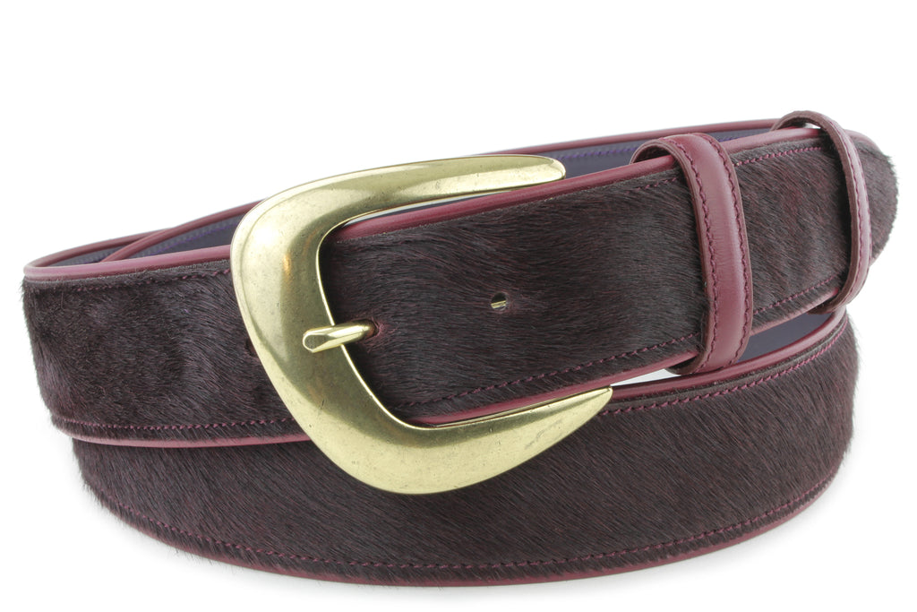 Pomegranate Pony Hair Belt