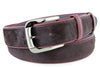 Pomegranate Pony Hair Gunmetal Belt