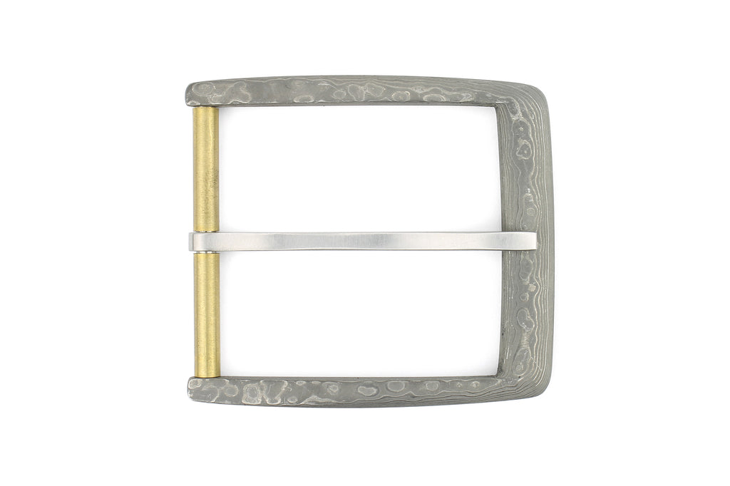 Damascus Steel Frame prong Buckle 40mm