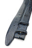 Navy Blue Genuine Crocodile Flank Belt Strap