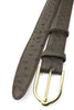 Dark Brown Genuine Ostrich Gold Prong Belt