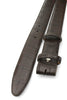 Dark Brown Genuine Matte Alligator Belt Strap