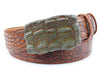 Hand painted Russet Tone Genuine Crocodile Belt
