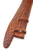 Hand painted Russet Tone Genuine Crocodile Belt Strap