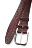 Hand painted Burgundy  Tone Genuine Crocodile Belt
