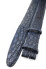 Hand painted Imperial Blue Tone Genuine Crocodile Belt Strap
