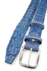 Hand painted Wedgewood Blue Porosus Crocodile Back Belt