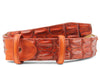 Hand painted London Tan Porosus Crocodile Back Belt Strap