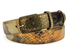 Copper Tone Genuine Python Belt