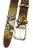Sunflower Genuine Python Crystal Prong Belt