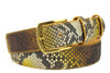 Sunflower Genuine Python Belt