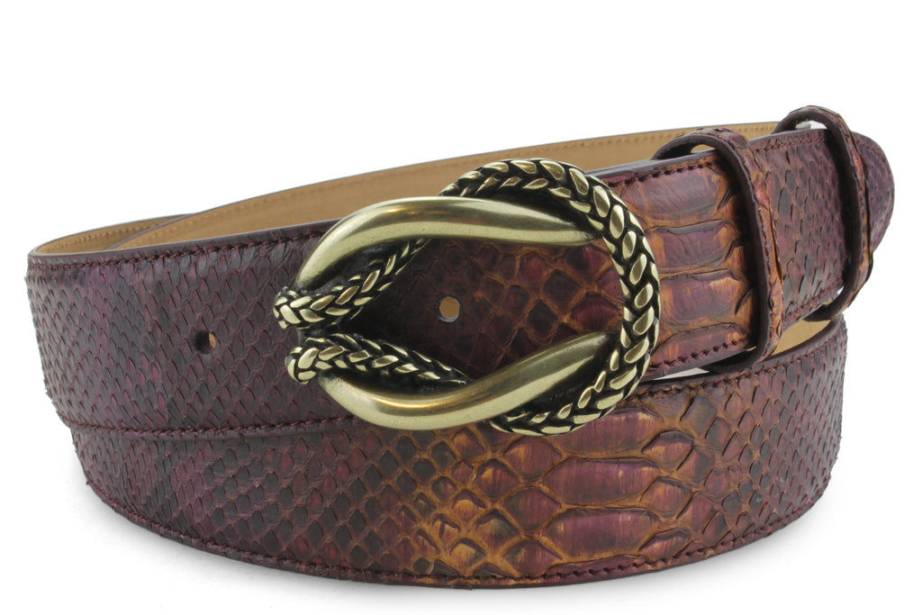 Shiraz Genuine Python Reef Knot Belt